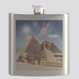 Sphinx and Egyptian Pyramids Flask