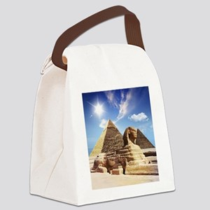 Sphinx and Egyptian Pyramids Canvas Lunch Bag