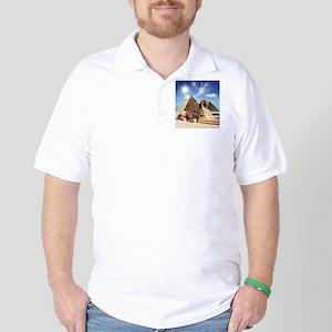 Sphinx and Egyptian Pyramids Golf Shirt