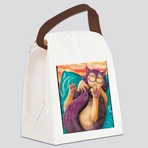 Plum Slumber Canvas Lunch Bag