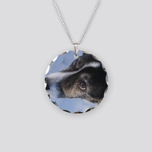 5-11 dogs listen Necklace Circle Charm