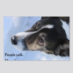 5-11 dogs listen Postcards (Package of 8)