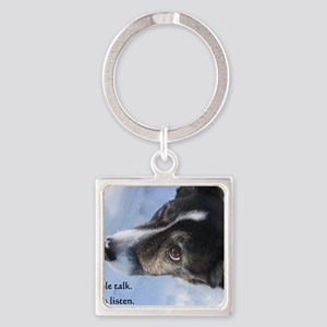 5-11 dogs listen Square Keychain
