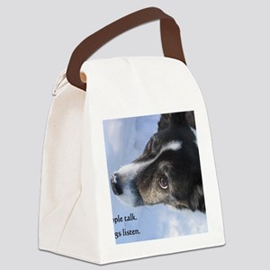 5-11 dogs listen Canvas Lunch Bag