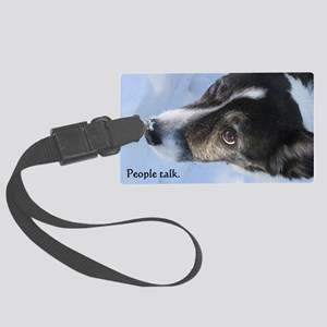 5-11 dogs listen Large Luggage Tag