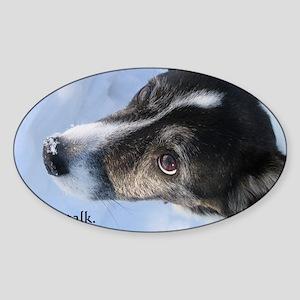 5-11 dogs listen Sticker (Oval)