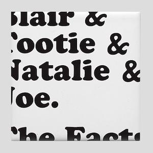 FACTSBLACK Tile Coaster