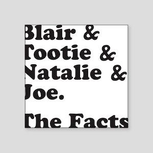 "FACTSBLACK Square Sticker 3"" x 3"""