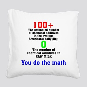 You Do The Math Square Canvas Pillow