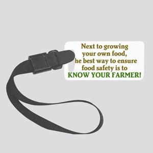 Know Your Farmer Small Luggage Tag