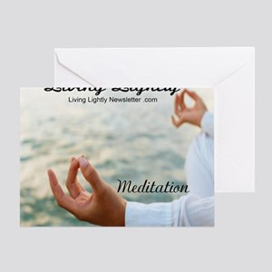 living lightly meditation Greeting Card