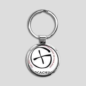 10x10_apparelgeocache3F Round Keychain