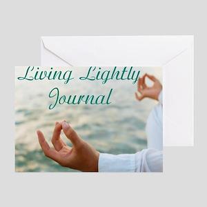 living lightly journal Greeting Card