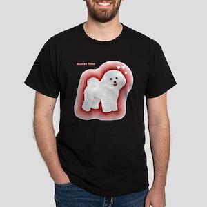 Bichon Frise-gradient backgound Dark T-Shirt