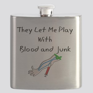 Phlebotomist they let me play BLOOD AND JUNK Flask