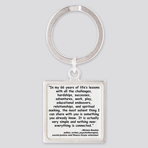Kashia Connected Quote Square Keychain