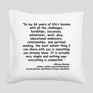 Kashia Connected Quote Square Canvas Pillow