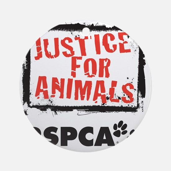 RSPCA Justice for Animals Round Ornament