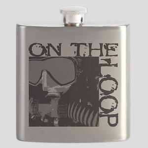 CCR diver for cafe press Flask