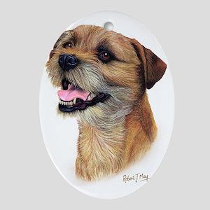 Border Terrier b Oval Ornament