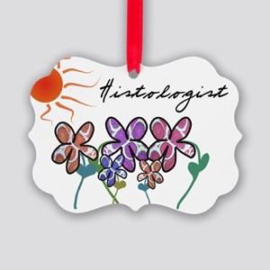 histologist flowers sun Picture Ornament