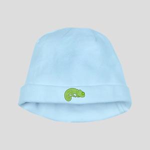 Cute Green Polka Dot Chameleon baby hat