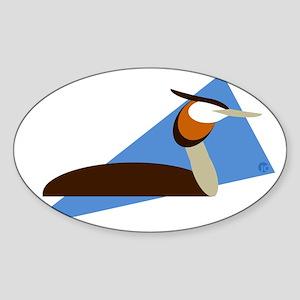 Grebe Sticker (Oval)