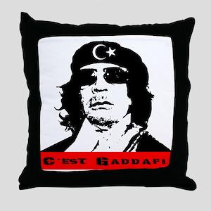 gaddafi2 Throw Pillow