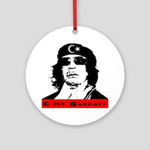 gaddafi2 Round Ornament