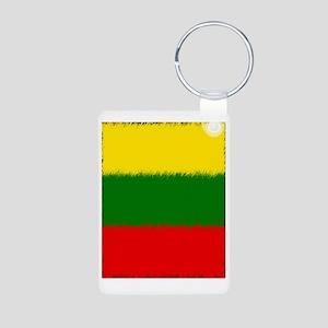 Lithuanian Flag Aluminum Photo Keychain