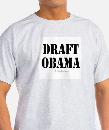 Draft Obama Ash Grey T-Shirt