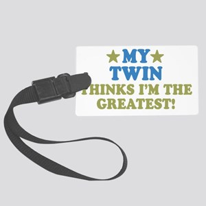 thinkstwin-01 Large Luggage Tag
