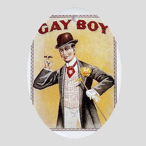 Gay Boy Oval Ornament