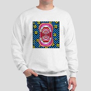 MOUTH_WIDE_OPEN_tile_coaster Sweatshirt