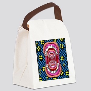 MOUTH_WIDE_OPEN_tile_coaster Canvas Lunch Bag