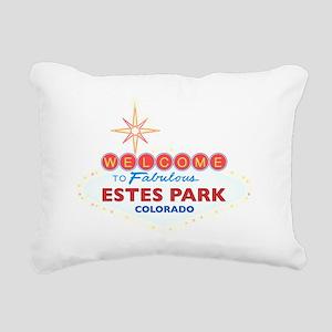 ESTES PARK DARK Rectangular Canvas Pillow