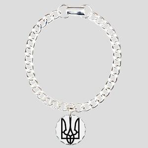 Tryzub (Black) Charm Bracelet, One Charm