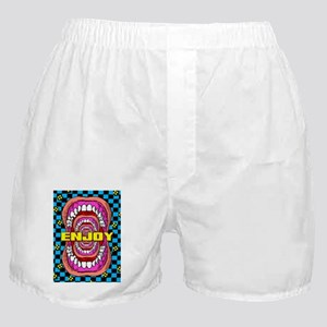 MOUTH_WIDE_OPEN_greeting card Boxer Shorts