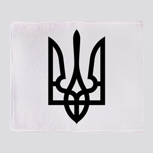 Tryzub (Black) Throw Blanket