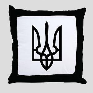 Tryzub (Black) Throw Pillow