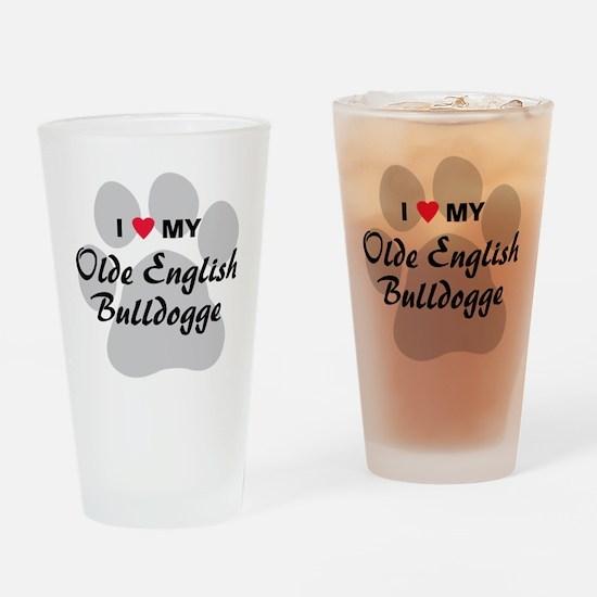 olde-english-bulldogge Drinking Glass