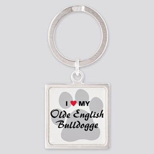 olde-english-bulldogge Square Keychain