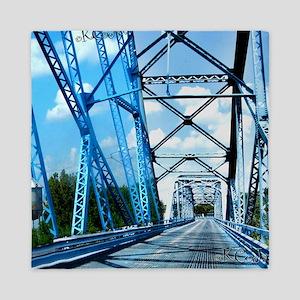 Blue Bridge Square Queen Duvet