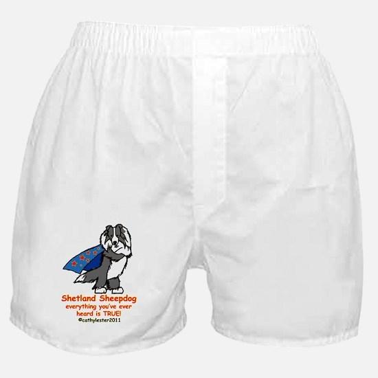 BlackSuperSheltie Boxer Shorts