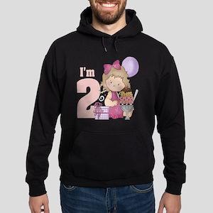 birthday girl im 2 Hoodie (dark)