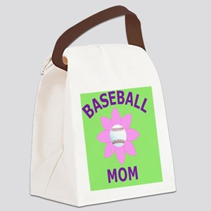 Baseball Mom Gift Buttons, Magnet Canvas Lunch Bag