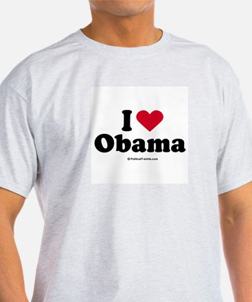 I Love Obama Ash Grey T-Shirt