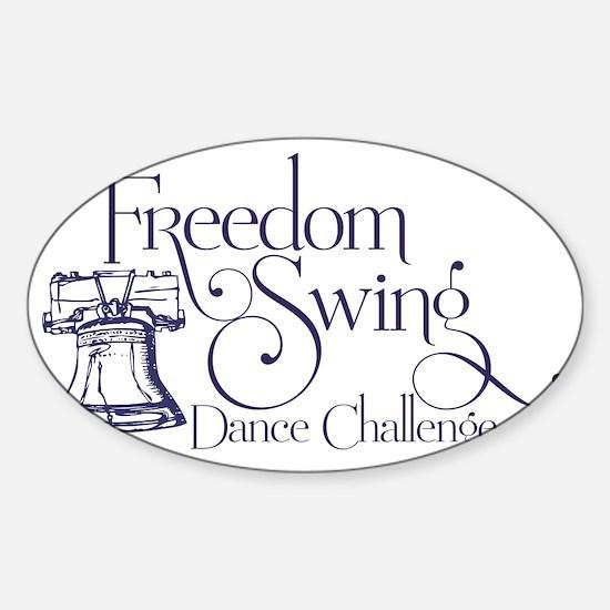 freedom swing Sticker (Oval)