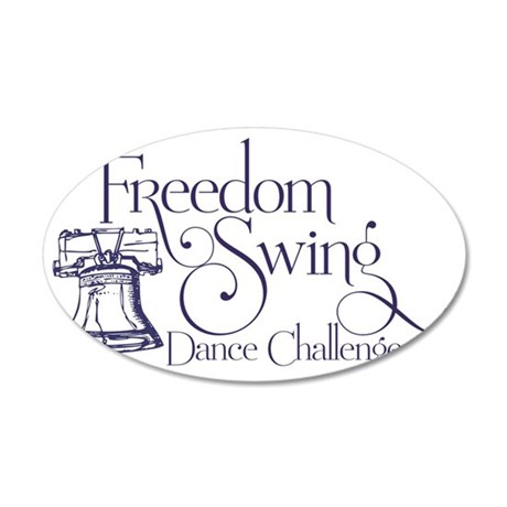 freedom swing 35x21 Oval Wall Decal