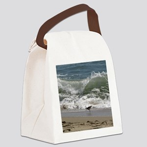 Kill Devil Hills Bird with Wave Canvas Lunch Bag
